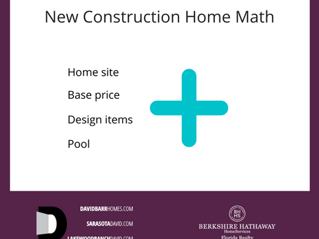 Changes Coming for New Homes | Lakewood Ranch FL | David Barr Realtor