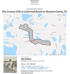 Country Club Lakewood Ranch neighborhood and demograhic report