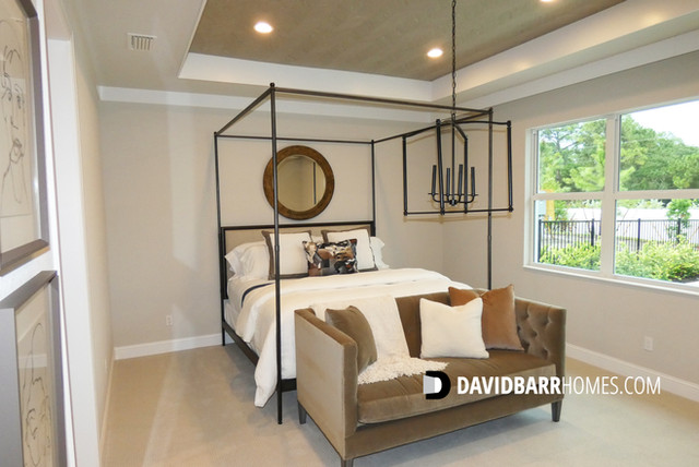 Toll Brothers Venice Woodlands model home master bedroom