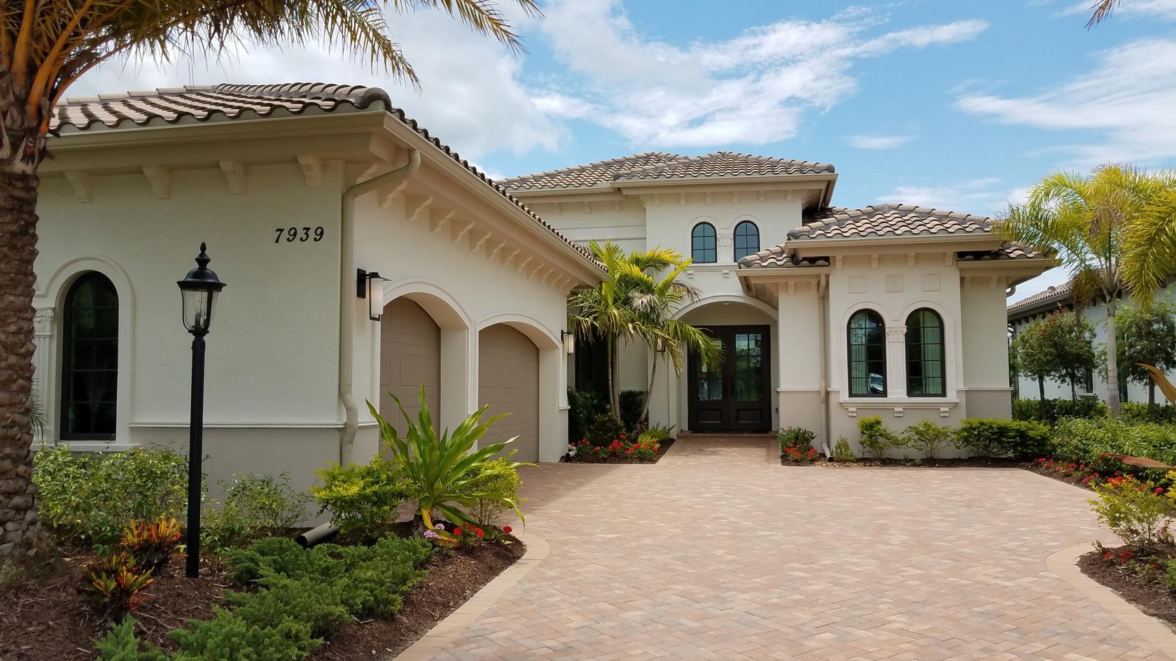 The Lake Club model home exterior