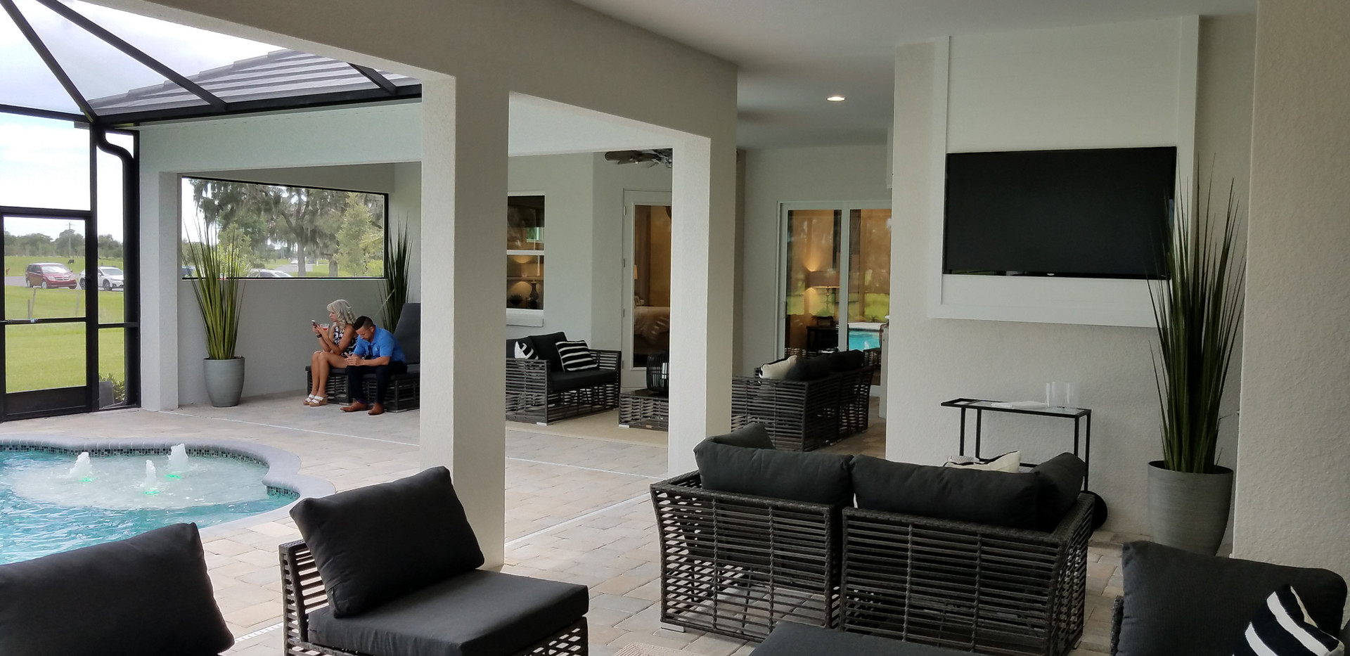 Hampton Lakes outdoor living spaces