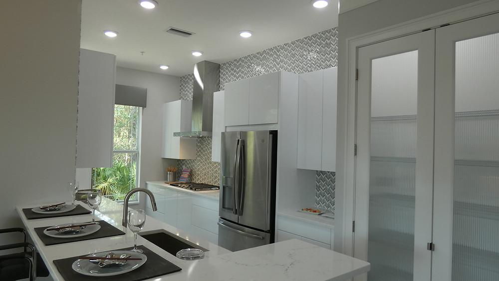 Hidden Creek model home kitchen with contemporary design