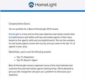 David Barr Sarasota FL Realtor 2018 HomeLight Award Winner