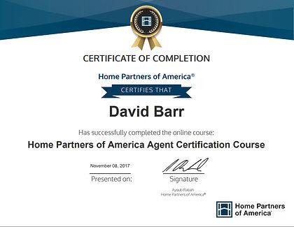 Home Partners of America certified Sarasota Realtor