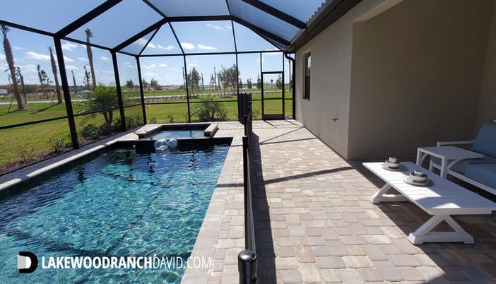 Lorraine Lakes Trevi model home pool in Lakewood Ranch