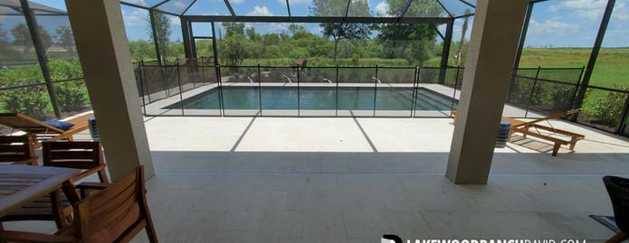 Park East model home pool