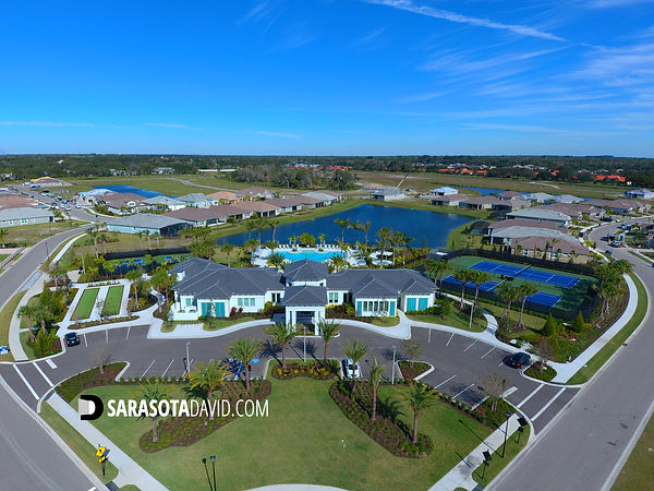 Sunrise Preserve Sarasota FL club house and pool