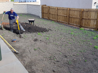 Garden make over, which includes. Fence work, Paving, Turfing and decking.