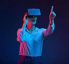 Asian Female Wearing VR Headset