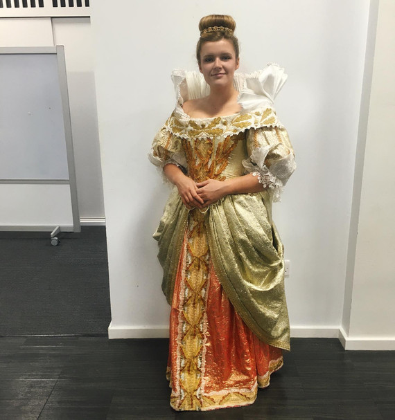 Elizabeth I Costume Fitting