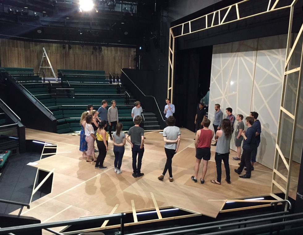 Preshow Cast Huddle