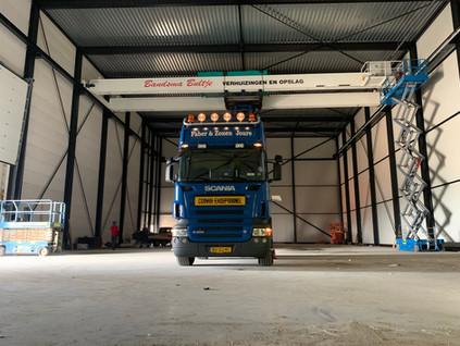 Torsit bouwt Container Lift System voor verhuisbedrijf Bandsma Bultje