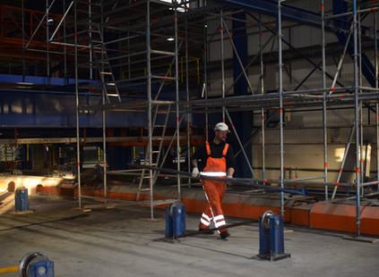 Torsit en Samax Rail vervangen kraanrail voor Dycore in Lelystad!