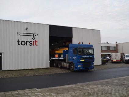 Torsit levert en monteert negen kranen bij Ledder Metaaltechniek te Harderwijk