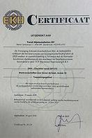 Certificaat EKH BDH Torsit geldig tot 20