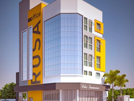 Office Rosa  -  Primeiro Edifício Comercial de Barra Velha