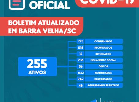 Boletim Coronavírus em Barra Velha | 17/08/2020