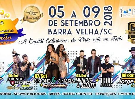 Programação da Festa Nacional do Pirão 2018