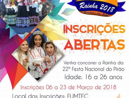 Concurso realeza da 22ª Festa Nacional do Pirão