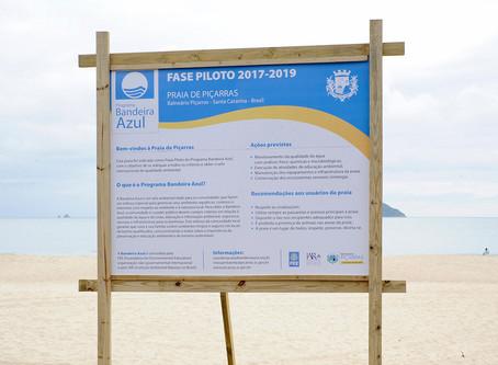 Praia de Balneário Piçarras é aceita em júri nacional do Bandeira Azul