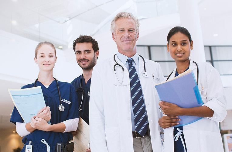 Il personale dell'ospedale