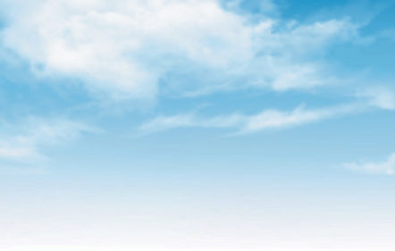 blue sky with clouds vector background.j