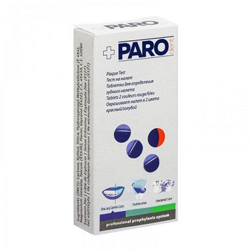 Paro Plak Plaque test 2-цветные таблетки для индикации зубного налета, 100 шт