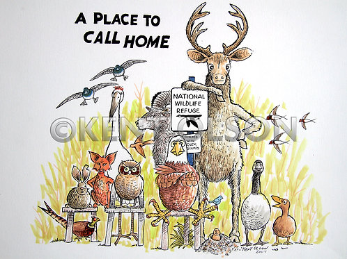 SOLD OUT! A Place to Call Home 12x18 Glossy Print, hand signed