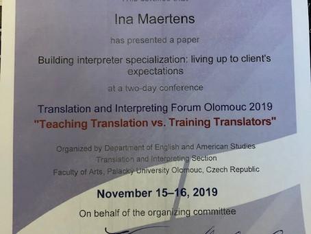 TIFO 2019: Teaching Translation vs. Training Translators