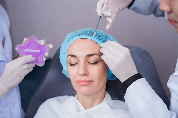 Woman receiving Botox injection at Metro Bangkok Clinic