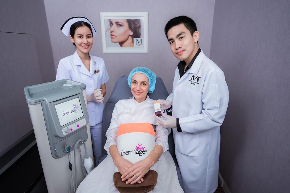 Thermage procedures at Metro Bangkok Clinic