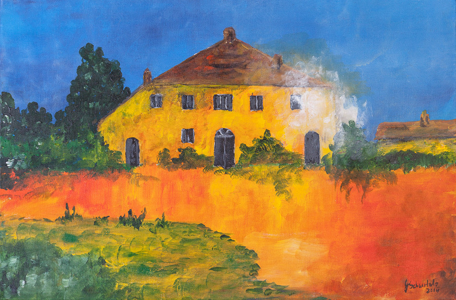 The house in the rising sun, France