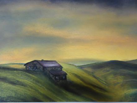 Solitude, Ireland, pastel