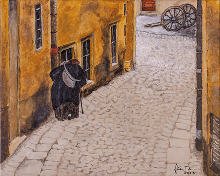 Tough to be old, Street of Bratislava