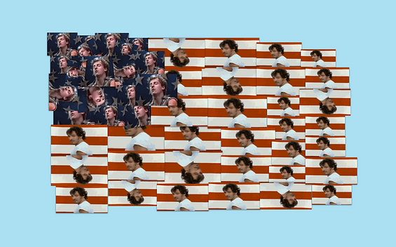 The American flag made of Bruce Springsteen performing Born in the U.S.A. in GIFs