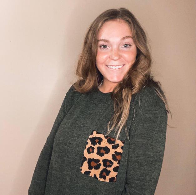 Cozy Leopard Pocket Sweater