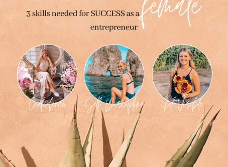 3 Skills needed for success as a FEMALE entrepreneur