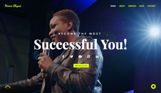 Bedrijven website templates – Motivational Speaker