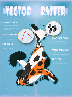 Vector and Raster Infographic Mockup
