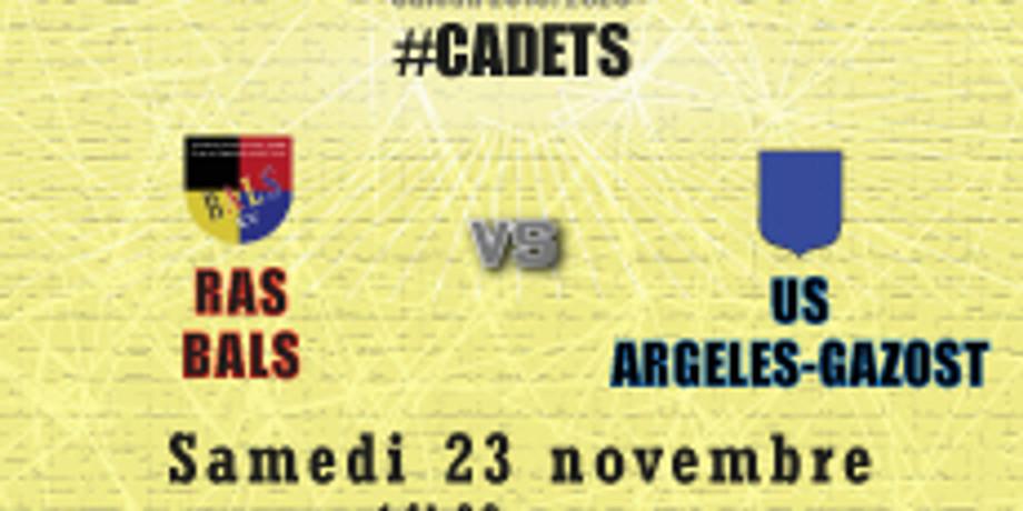 #Cadets :  Bals vs US Argelès-Gazost