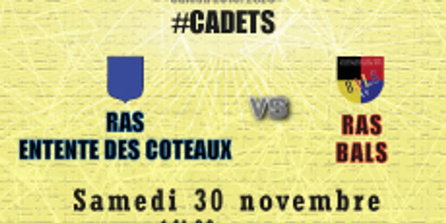 #Cadets : RAS Entente des Coteaux  vs Bals