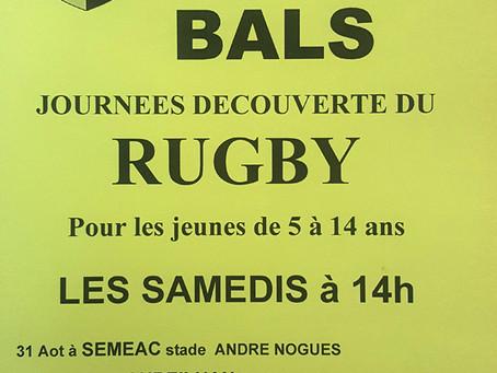 Journées Découverte du Rugby