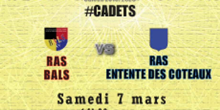 #Cadets : Bals vs RAS Entente des Coteaux