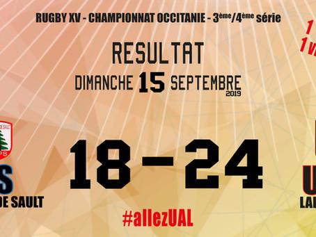 1ère victoire pour l'UAL