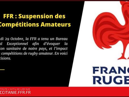 Communiqué de la FFR - jeudi 29 octobre 2020