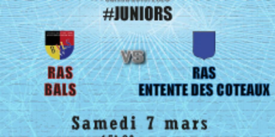 #Juniors : Bals vs RAS Entente des Coteaux