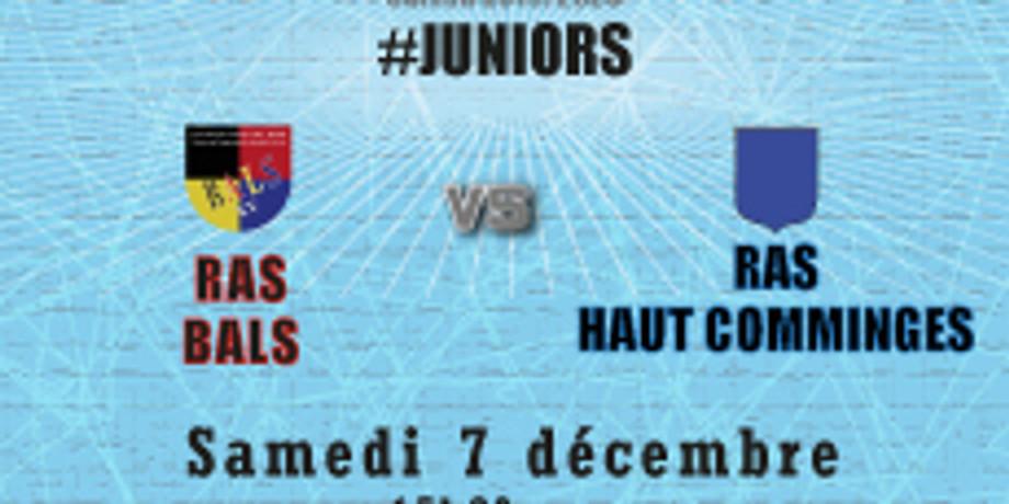 #Juniors : Bals vs RAS Haut Comminges