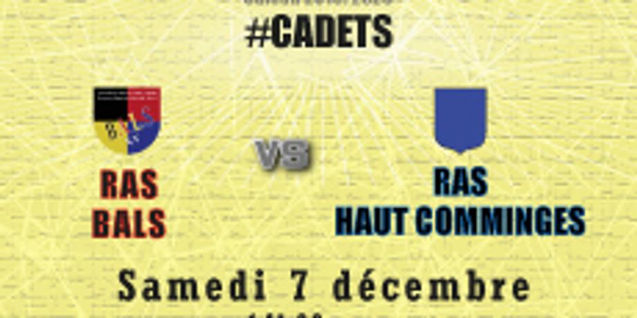 #Cadets : Bals vs RAS Haut Comminges