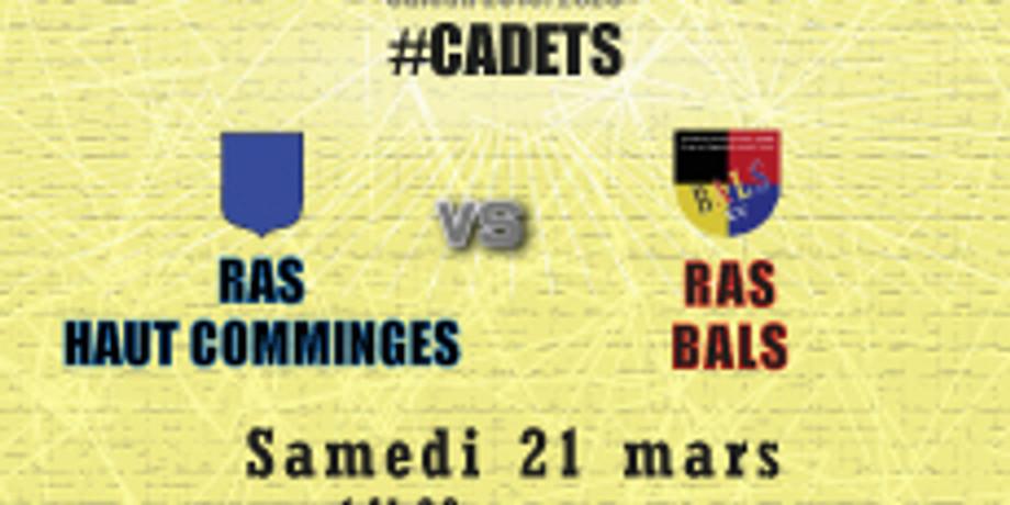 #Cadets : RAS Haut Comminges vs Bals