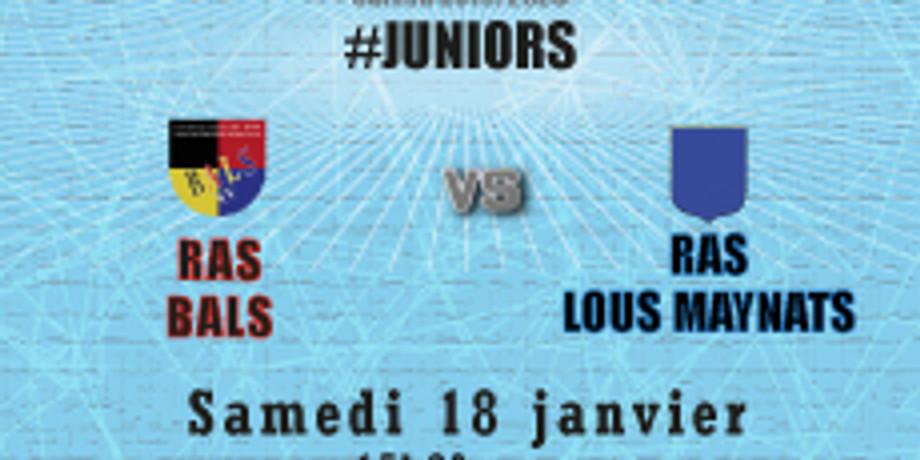 #Juniors : Bals vs RAS Lous Maynats